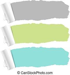 Pastel Color Torn Paper Set