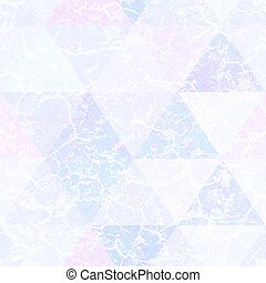 Pastel color triangle pattern with grunge effect.