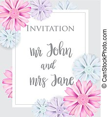 Stylish elegant wedding invitation card.