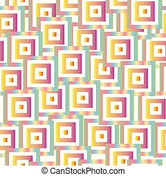 pastel, colorido, patrón, seamless, vector, cuadrados