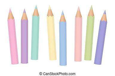 Pastel Colors Baby Crayons Pencils