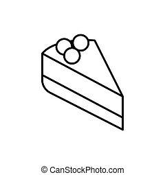 pastel, contorno, icono
