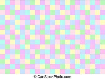 pastel, cuadrados, coloreado, close-packed