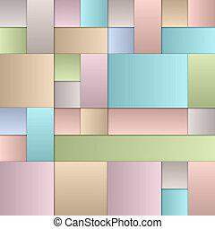 pastel, cuadrados