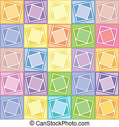 pastel, cuadrados, patrón
