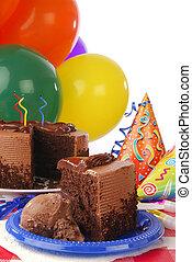 pastel, cumpleaños, chocolate