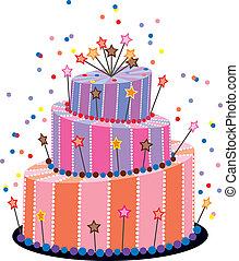 pastel, cumpleaños