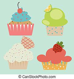 Pastel cute cupcake
