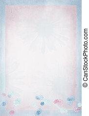 pastel daisy border on pink