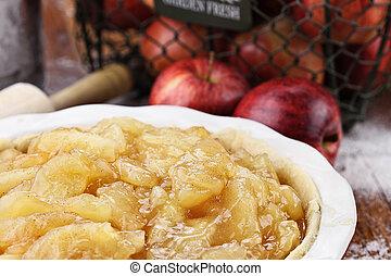 pastel de manzana, relleno