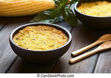 pastel, de, pie), (corn, choclo, chileno