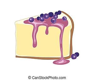 pastel de queso, arándano