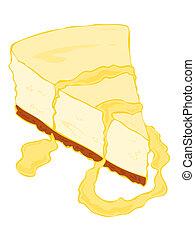 pastel de queso, slice.