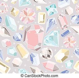 pastel, diamantes, seamless, padrão