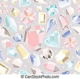 pastel, diamants, seamless, modèle