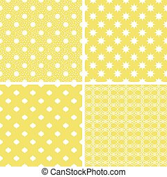 pastel, diferente, patterns., seamless, vetorial, retro