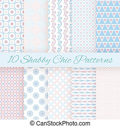 pastel, diferente, seamless, padrões, vetorial, retro