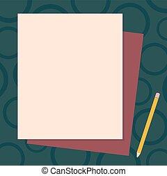 pastel, différent, concept, business, espace, couleur, résumé, moderne, crayon, papier, conception, fond, vide, construction, copie, pile, vide, lien