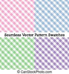 pastel, duży parasol, różowy, colors:, seamless, wzory, lawenda, cztery, mglisty, proszek, splot, krzyż, green., błękitny