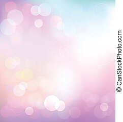 Pastel elegant abstract background with bokeh lights