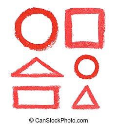 pastel, elements., olie, ontwerp