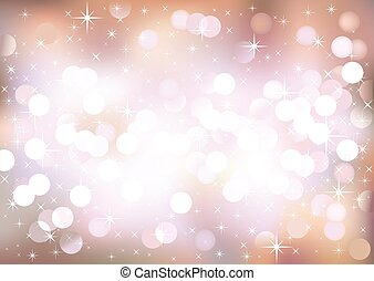 Pastel festive lights, vector background.