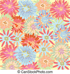 Pastel floral background with chrysanthemum