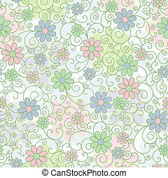 Pastel Floral Filigree