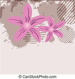 pastel, flowers., coloré, délicat, modèle