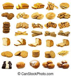 pastel, galletas, bread