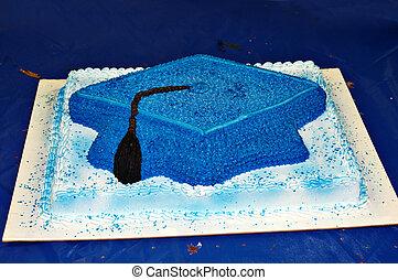 pastel, gorra, como, graduación, formado