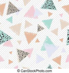 pastel, gráfico, triángulos