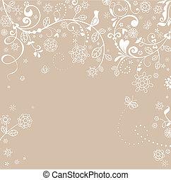Pastel greeting card