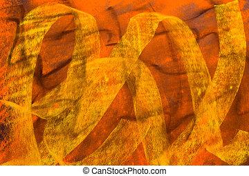 Pastel Grunge Background: Black Yellow Orange