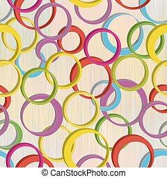 pastel, grunge, coloridos, padrão, anéis, seamless, cores, listrado, fundo, 3d