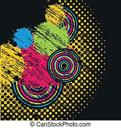 pastel, grunge, fond