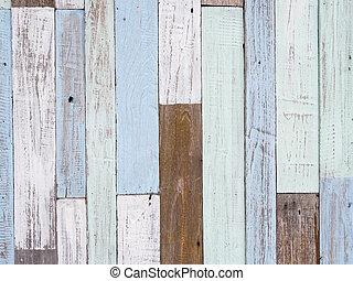 pastel, hout, muur, textuur