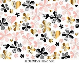 pastel, illustration., flor, patrón, resumen, seamless,...