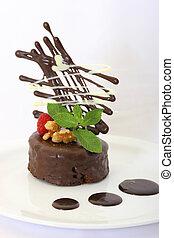 pastel, imaginación, chocolate