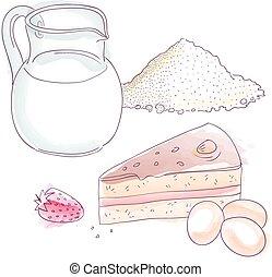 pastel, ingredientes
