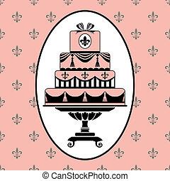 pastel, invitación