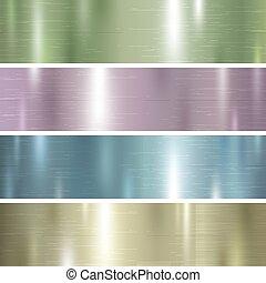 pastel, jogo, cor, metal, textura, vetorial, ilustração, fundo