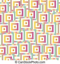 pastel, kleurrijke, model, seamless, vector, pleinen