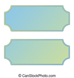 Pastel Labels, blue and green