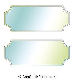 Pastel Labels, blue, white, green