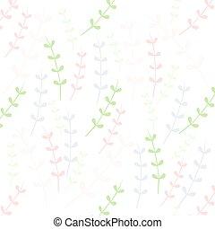 pastel leaves seamless pattern