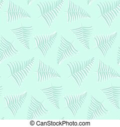 Pastel light colors seamless pattern with tropical leaves