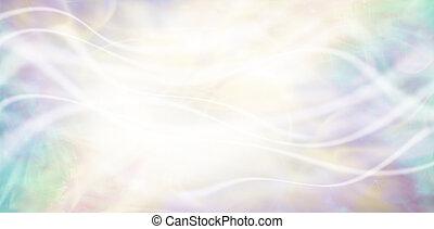 Pastel light wisps background