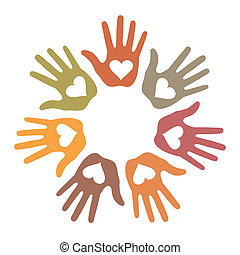 Pastel Loving Hand Print icon