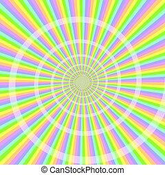 pastel, luz, com, espiral, abstratos, fundo